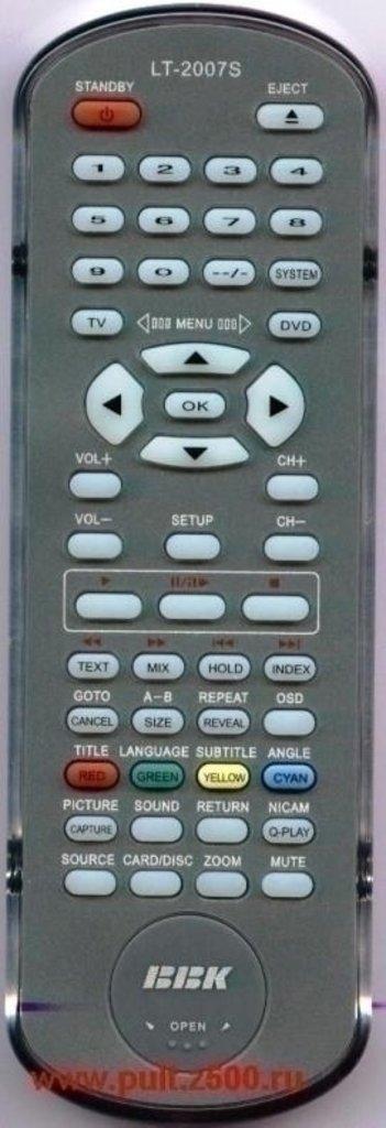 "BBK: Пульт BBK LT 2007S ( TV/DVD-комби. сер.ниж.л.кл. ""SOURCE ) оригинал в A-Центр Пульты ДУ"