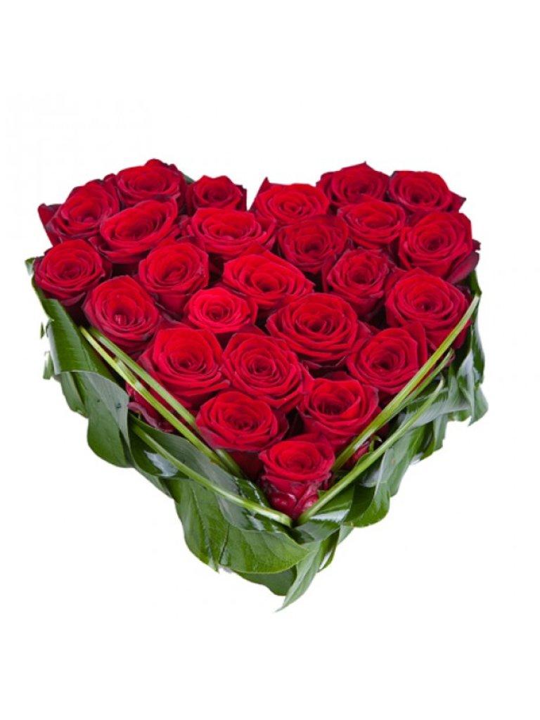 """Композиции из живых цветов: Композиция """"Сердце"""" в Николь, магазины цветов"""