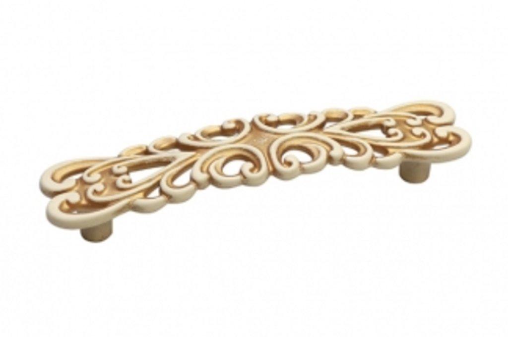 Коллекция КЛАССИКА: Ручка-скоба 96мм, отделка золото винтаж в МебельСтрой