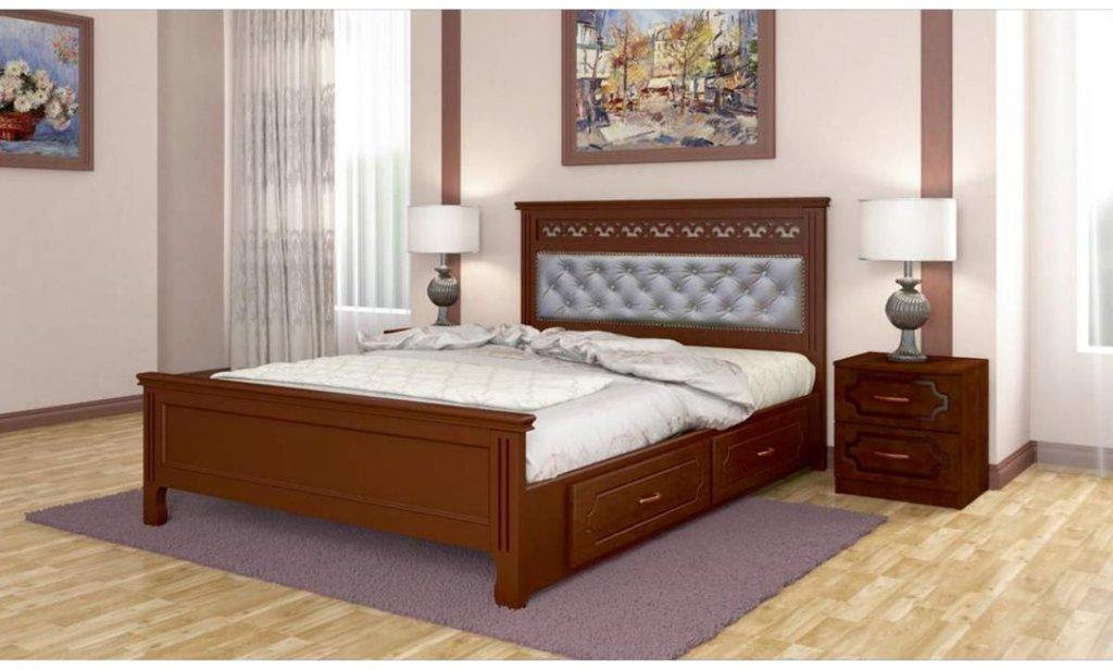 Кровати: Кровать Грация с ящиками (массив) в Уютный дом