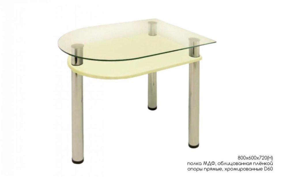 Столы обеденные: Стол обеденный с полкой МДФ 4.4 в Уютный дом