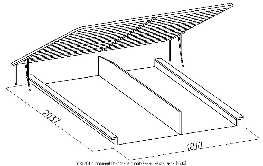 Кровати: Кровать BERLIN 31 (1800, мех. подъема) в Стильная мебель