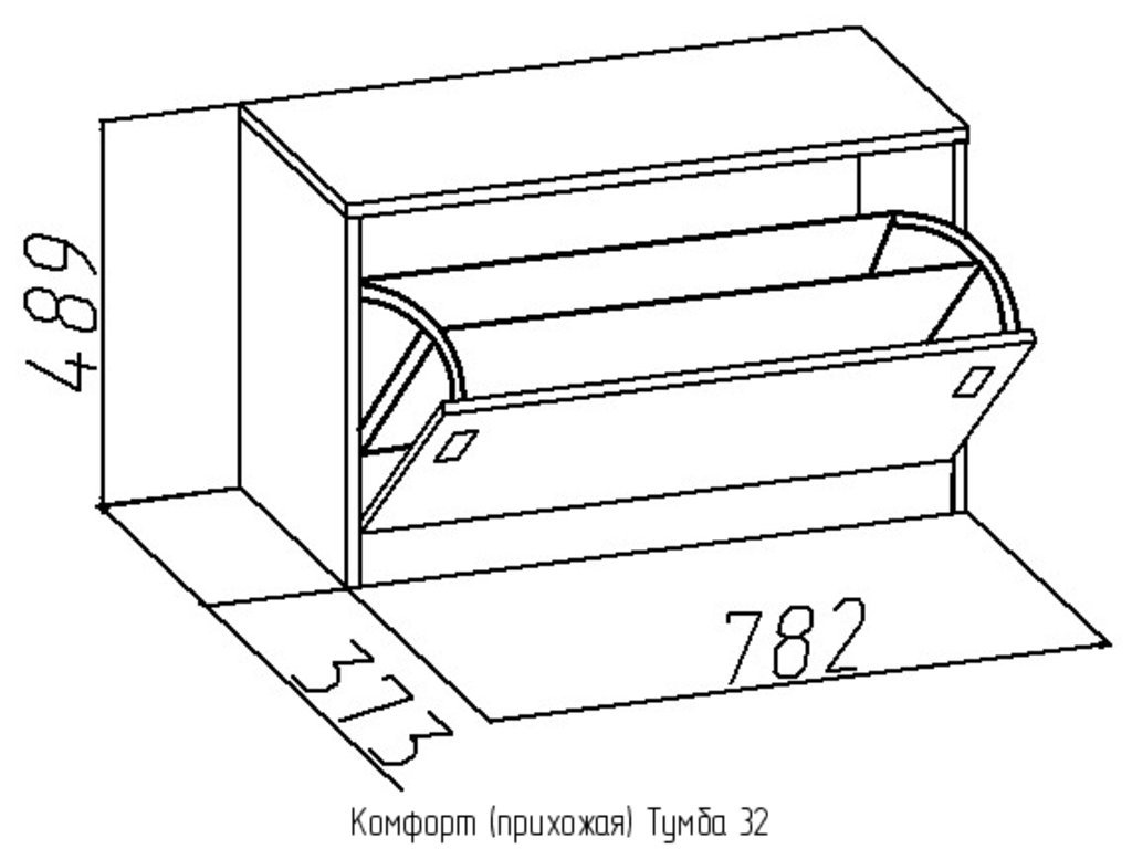 Этажерки и тумбы: Тумба 32 Комфорт в Стильная мебель