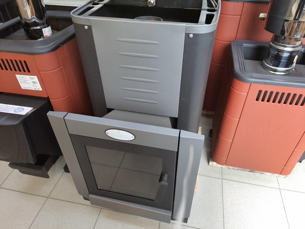 Печи и дымоходы: Печь для бани ГрейВари Кирасир 20 Grey intro,конвекционная со стеклом , конструкционная сталь 4-6 мм в Погонаж