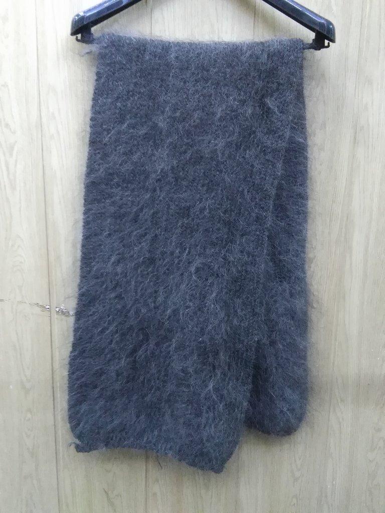 Манишки, шали, шарфы, платки, палантины: Шарф серый из 100% пуха козы (160х40см) в Сельский магазин