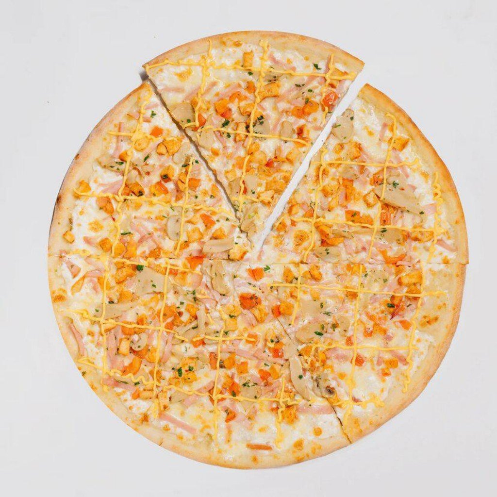 Пицца на тонком тесте: Пицца Супер Микс в Сбарро