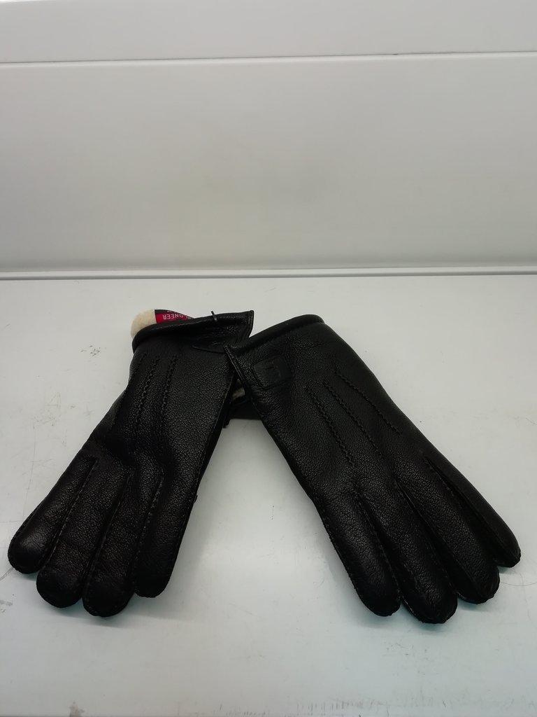 Изделия из натурального меха и кожи (перчатки, варежки, тапочки): Перчатки мужские кожаные в Сельский магазин
