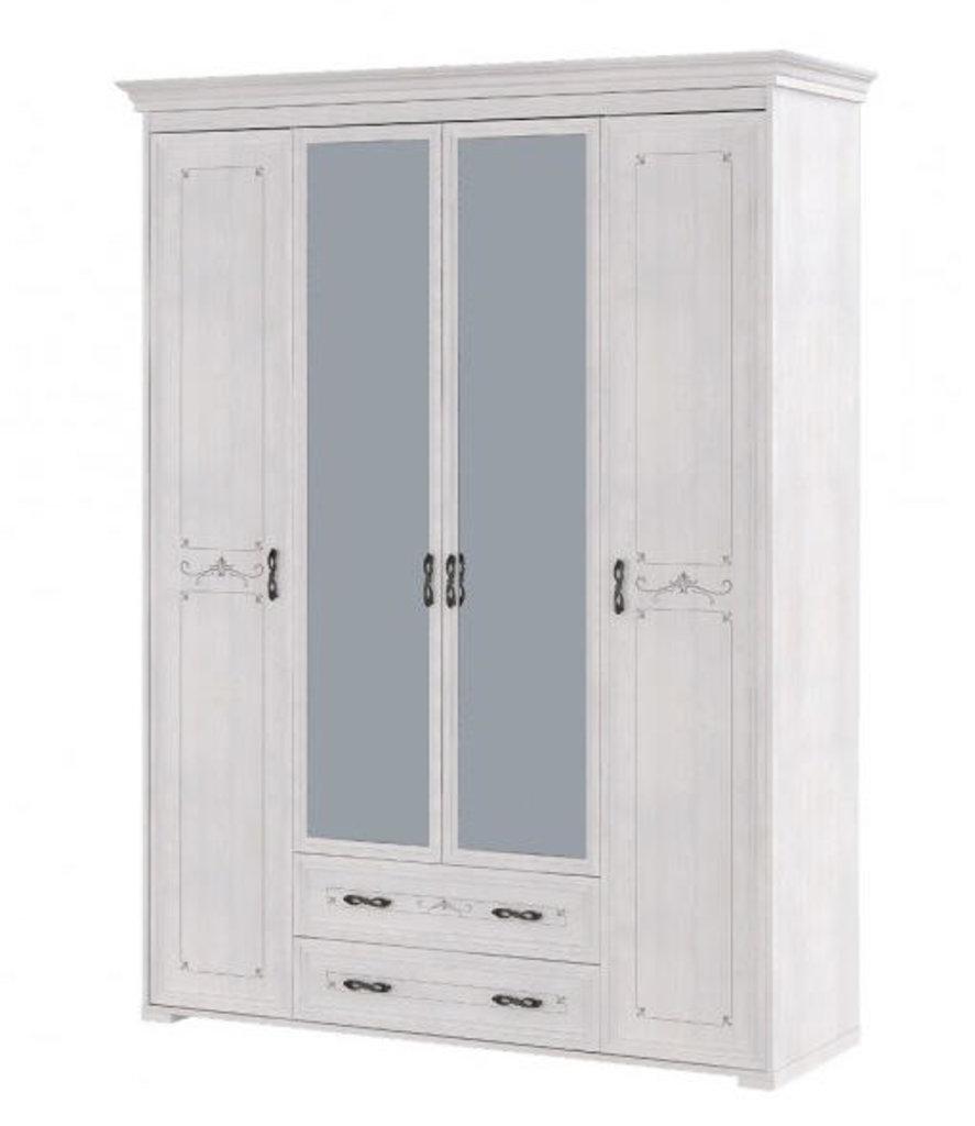 Шкафы для одежды и белья: Шкаф для платья и белья 4-х дв с ящиком 02 Афродита без карниза в Стильная мебель
