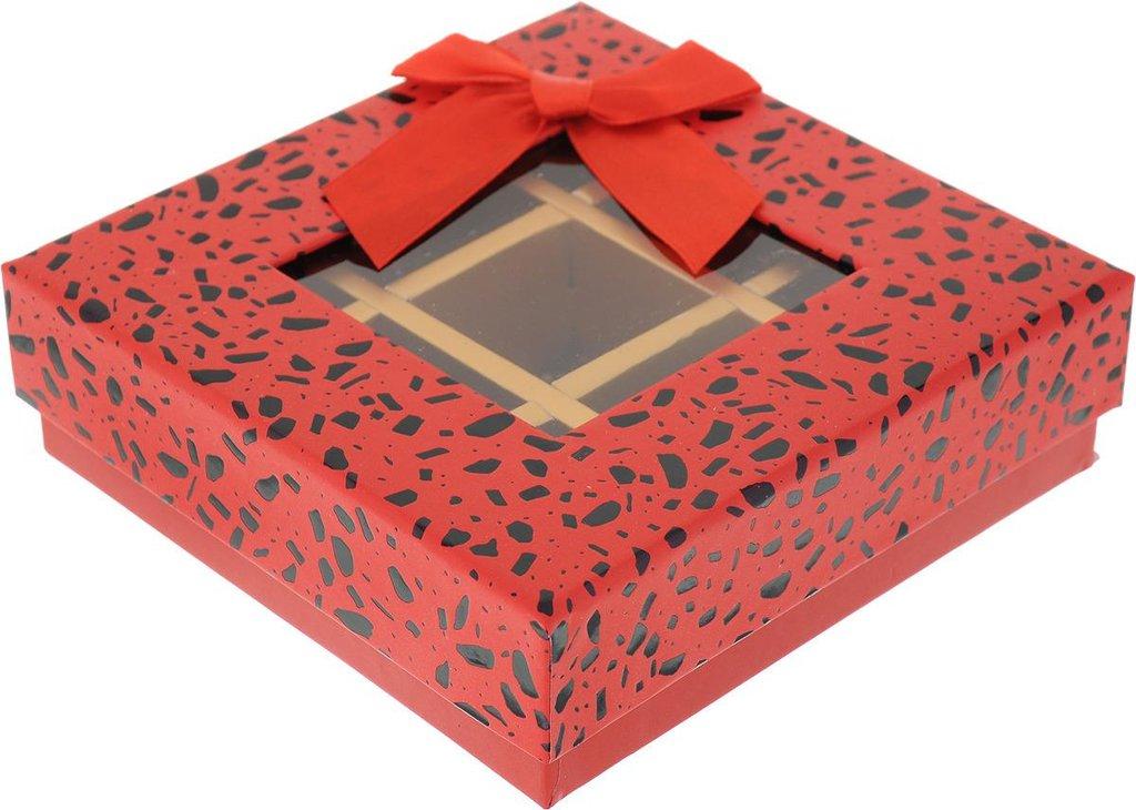 Коробки для кондитерских изделий: Коробка подарочная для конфет  13,5 х 13,5 х 4 см в ТортExpress