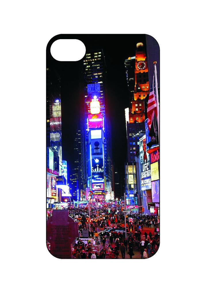Выбери готовый дизайн для своей модели телефона: Нью-Йорк в NeoPlastic