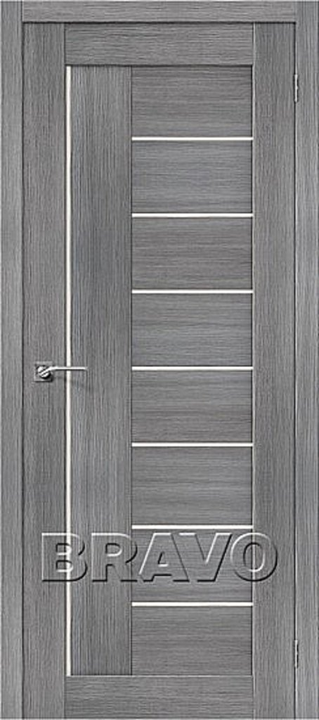 Двери экошпон BRAVO: Порта-29 Grey Veralinga в STEKLOMASTER