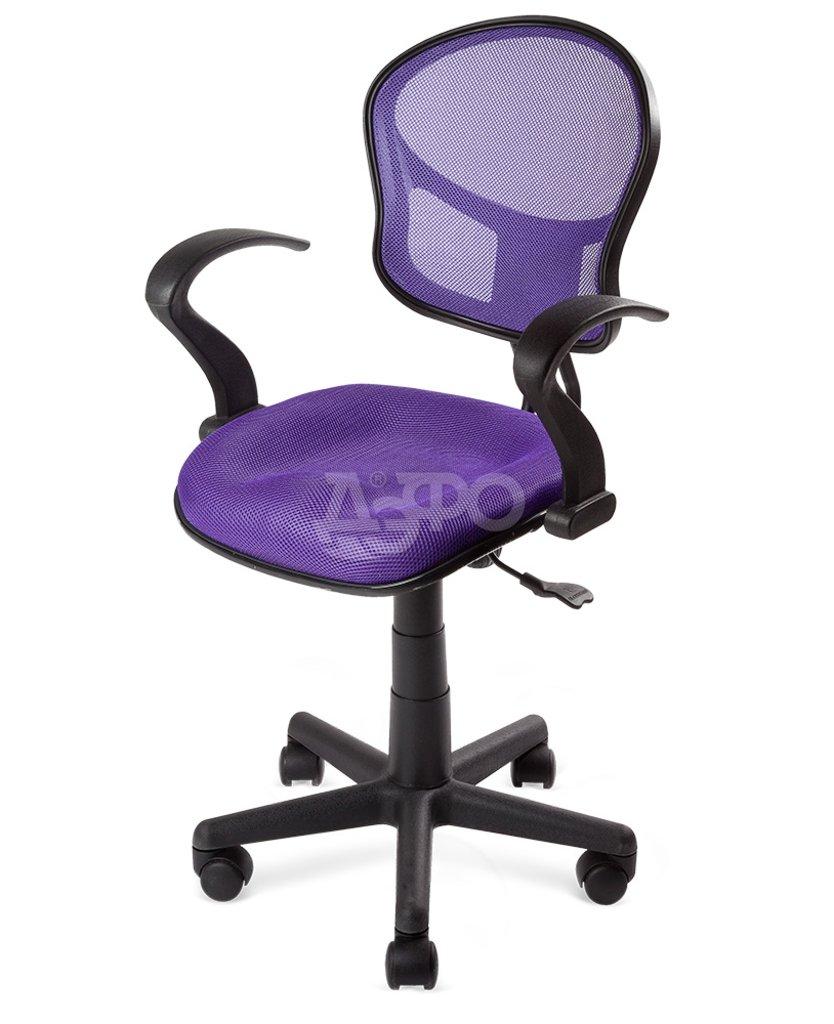 Рабочие кресла: КРК КРЕСЛО POLO (QZY-0817C) (54*52h95) (DW85) (ткань, фиолетовый/фиолетовый) в Дэфо Красноярск