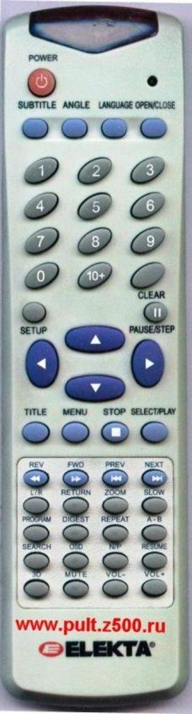 ELEKTA: Пульт ELEKTA 1611-7422 ( DVD E-D1000 ) аналог DELLY в A-Центр Пульты ДУ