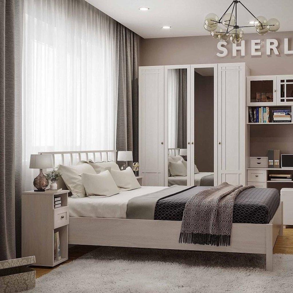 Кровати: Кровать Люкс Sherlock 47 (1600, орт. осн. дерево) в Стильная мебель