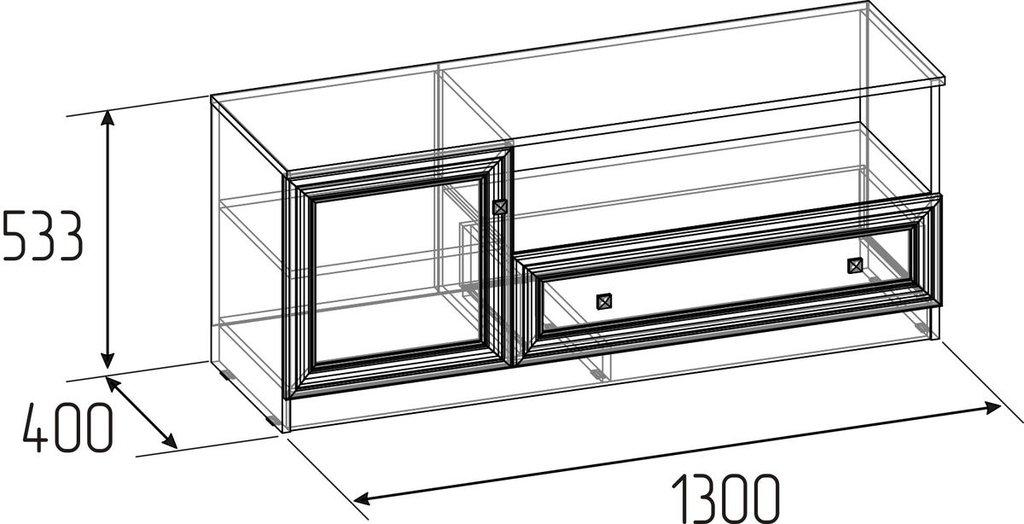 Тумбы и стойки под телевизор и аппаратуру: Тумба ТВ Paola 333 в Стильная мебель