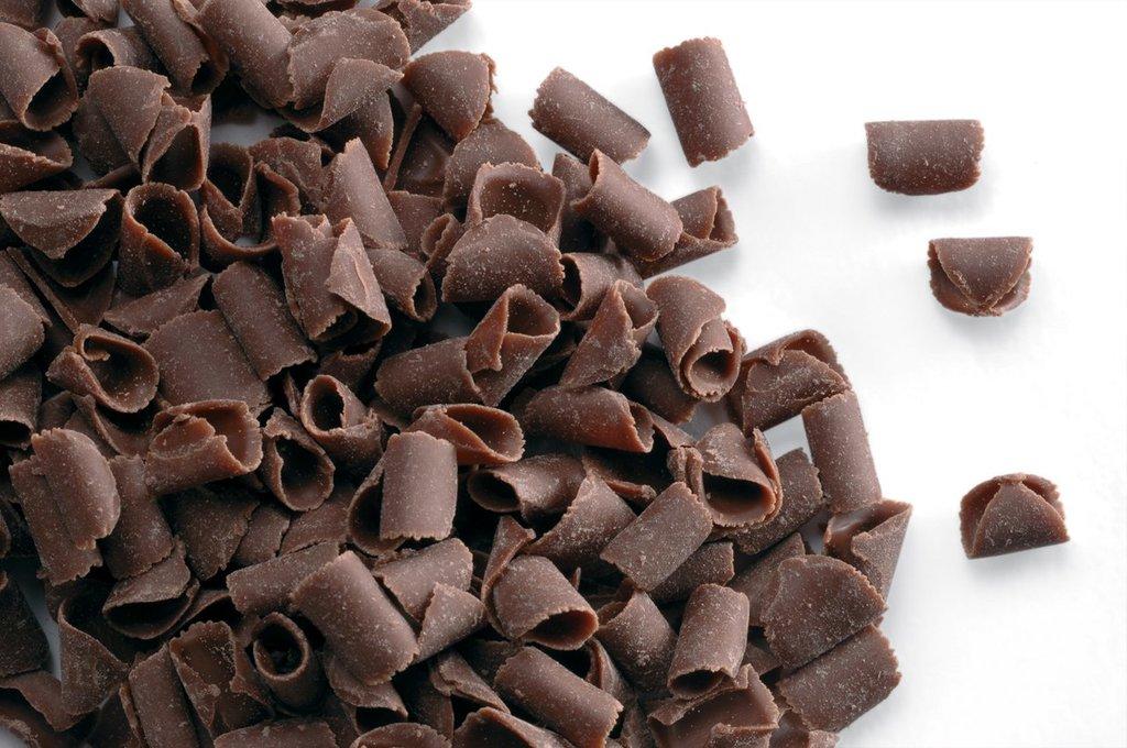 Шоколадный декор: Шоколадная стружка темная Callebaut 100 гр в ТортExpress