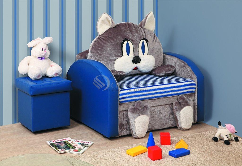 Детские диваны и мягкие кресла: Тахта Мася - 10 (Кот) в Стильная мебель