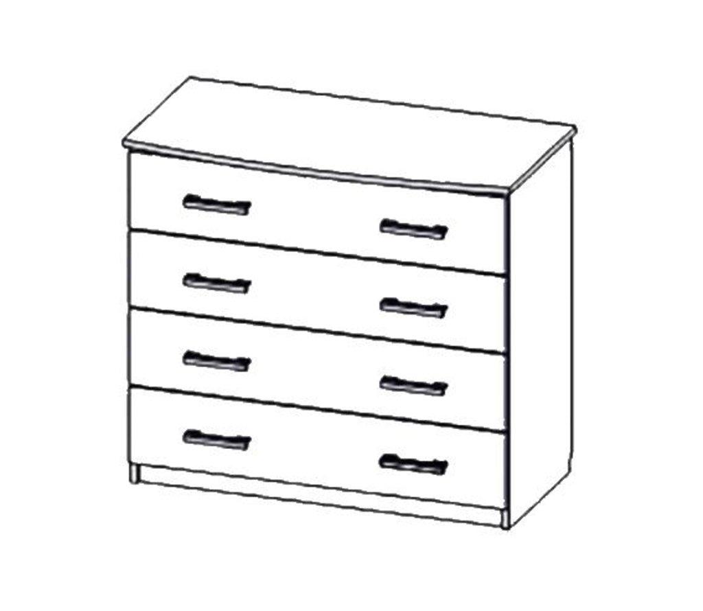 Мебель для спальни Лагуна-2: Комод (4 ящика) Лагуна-2 в Диван Плюс