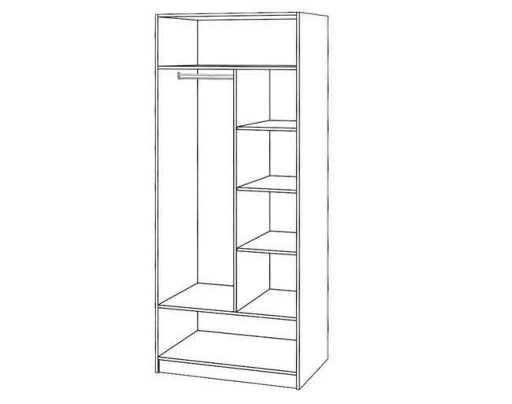 Шкафы для одежды и белья: Шкаф 2-х ств. Диана в Стильная мебель