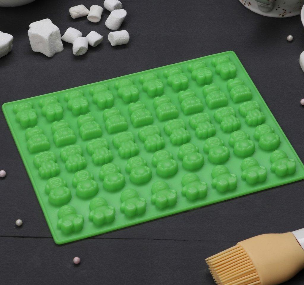 Силиконовые формы для льда, шоколада и мармелада: Форма для мармелада Зоопарк 45 ячеек  20х15 см в ТортExpress