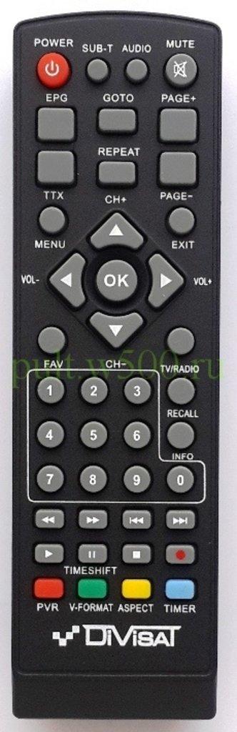 DiVisat: Пульт Divisat  HOBBIT Mini II (DVB-T2) оригинал в A-Центр Пульты ДУ