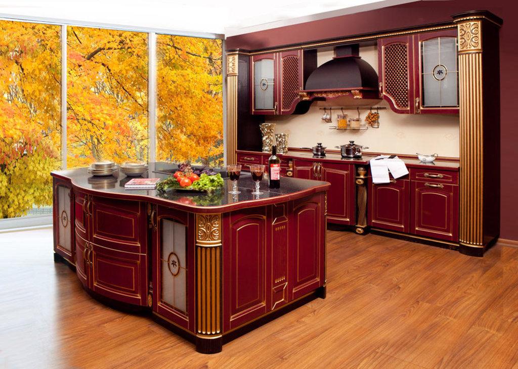 Кухни: Кухня из массива ясеня Т512-116 в Стильная мебель