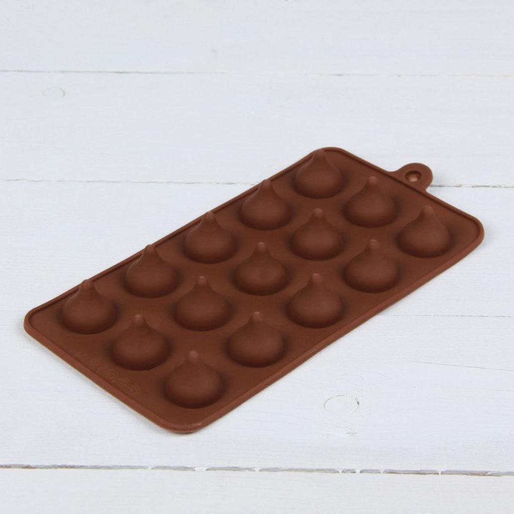Силиконовые формы для льда, шоколада и мармелада: Форма для льда и шоколада 20,5×10,5 см «Трюфель» 15 ячеек (d=2,2 см) в ТортExpress