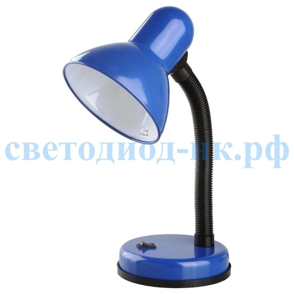 Настольные лампы, ночники: Лампа настольная синяя на подставке в СВЕТОВОД