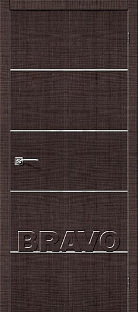 Двери экошпон BRAVO: Порта-50А-6 Wenge Crosscut в STEKLOMASTER