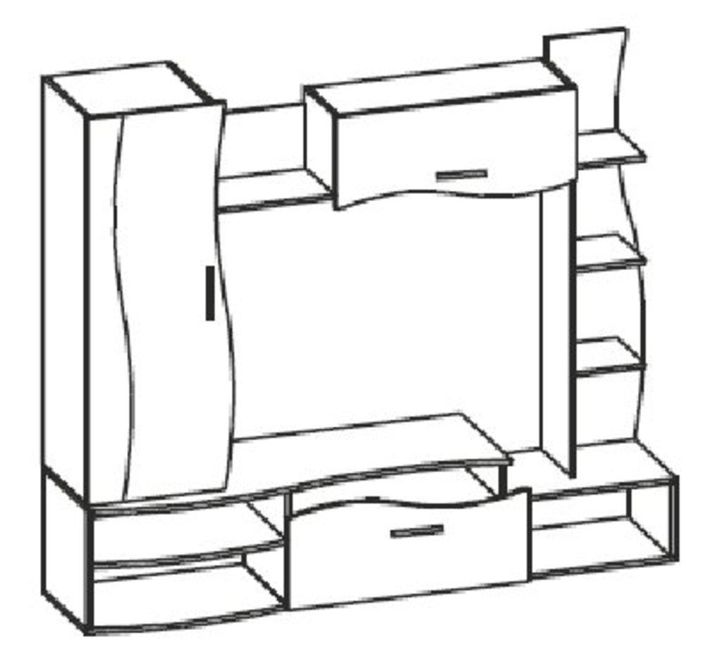 Мебель для гостиных, общее: Стенка Олимп - М01 в Стильная мебель