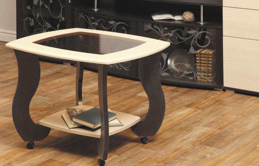 Столы журнальные: Журнальный столик Сатурн - М01 со стеклом в Vesa