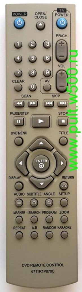 LG: Пульт LG 6711R1P070C (DVD караоке) Hinhuat в A-Центр Пульты ДУ