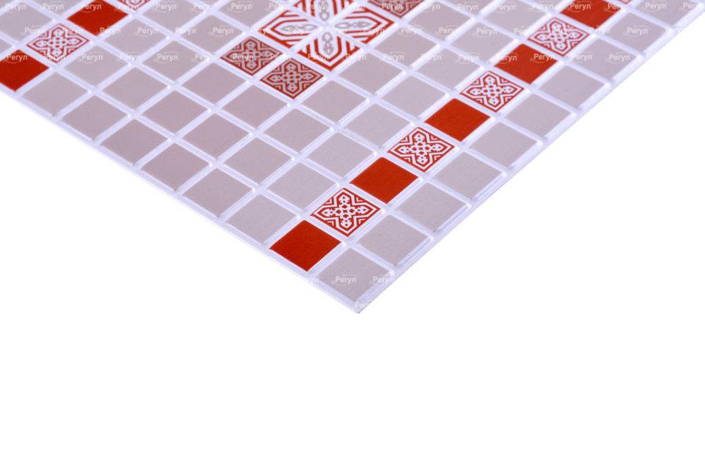 Панели ПВХ: Мозаика Орнамент красный в Мир Потолков