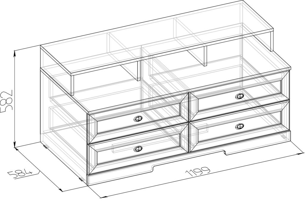 Тумбы и стойки под телевизор и аппаратуру: Тумба ТВ БРИЗ 3 в Стильная мебель