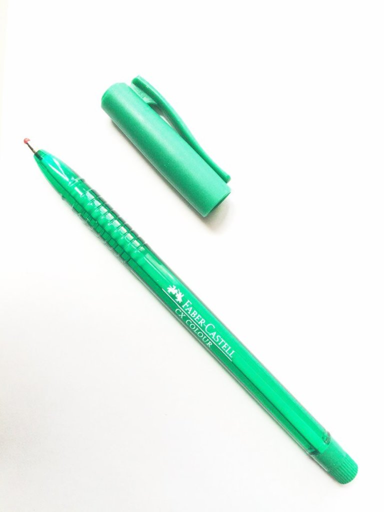 Ручки: Роллер СХ5 , зелёный , 1.0 мм Faber-Castell в Шедевр, художественный салон