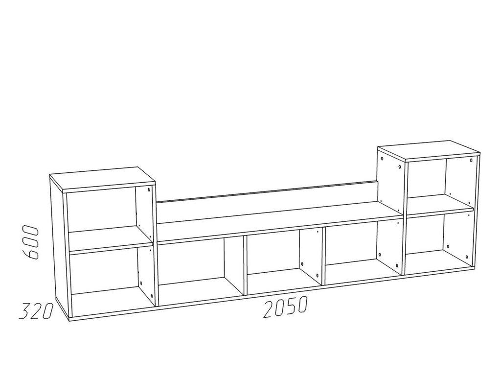 Полки детские: Полка НМ 011.39-01 Фанк в Стильная мебель
