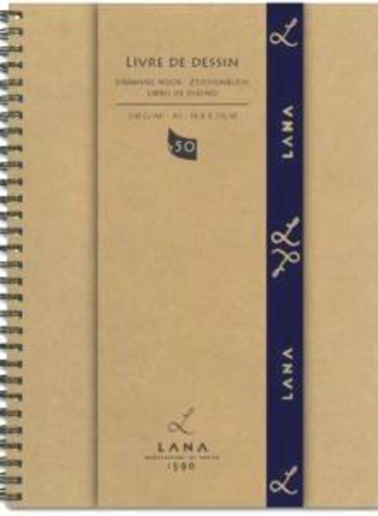 Бумага для рисования и графики: LANA Альбом для рисования Dessin на спирали А4, 50 листов в Шедевр, художественный салон