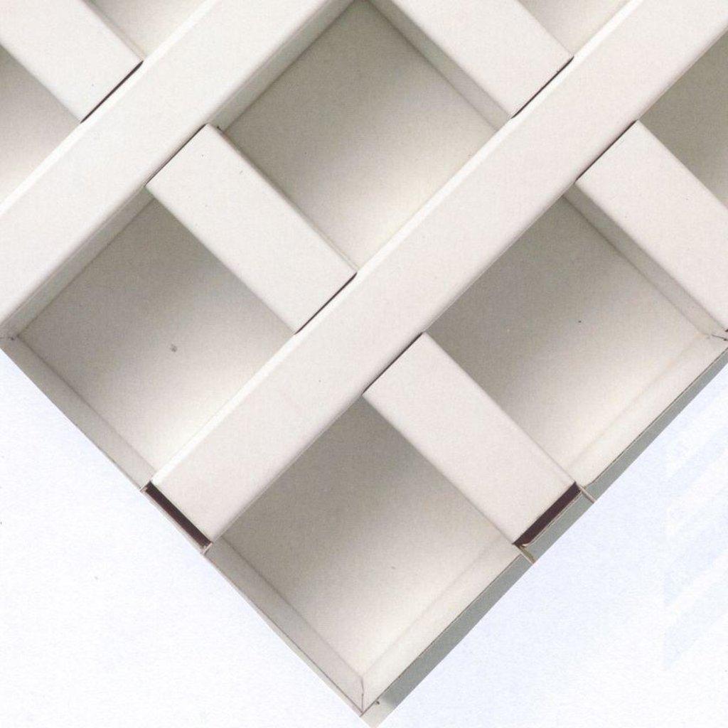 Потолки Армстронг (минеральное волокно): Потолочная плита Cellio (Целио) C25  120x120X37   RAL 9006 (assembled) в Мир Потолков