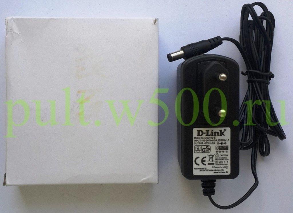 БП  12В  2,0А штекер 2.5*5.5 в розетку  в коробке ( D-Link CG2412-E ) в A-Центр Пульты ДУ