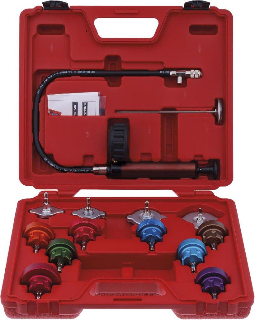 Инструмент для ремонта и диагностики системы охлаждения двигателя автомобилей: KA-7230K комплект для опресовки системы охлаждения в Арсенал, магазин, ИП Соколов В.Л.