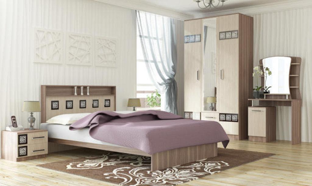 Мебель для спальни Коста-Рика. Модульная серия.: Кровать 2-х спальная 1200 Коста-Рика в Уютный дом
