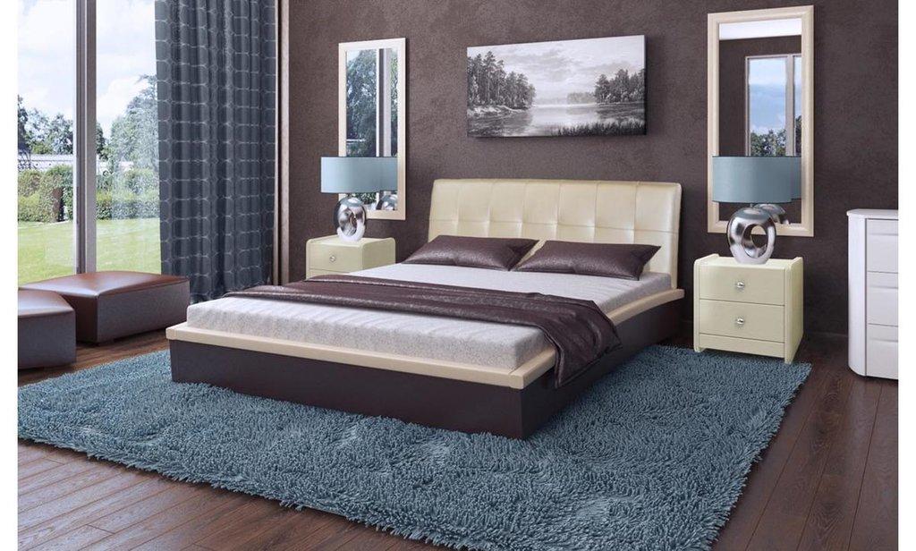 Кровати: Кровать двойная из экокожи Севилья в Уютный дом