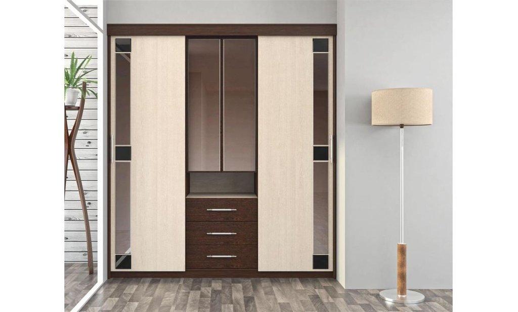 Шкафы-купе: Шкаф-купе распашной Бруклин для платья и белья в Уютный дом