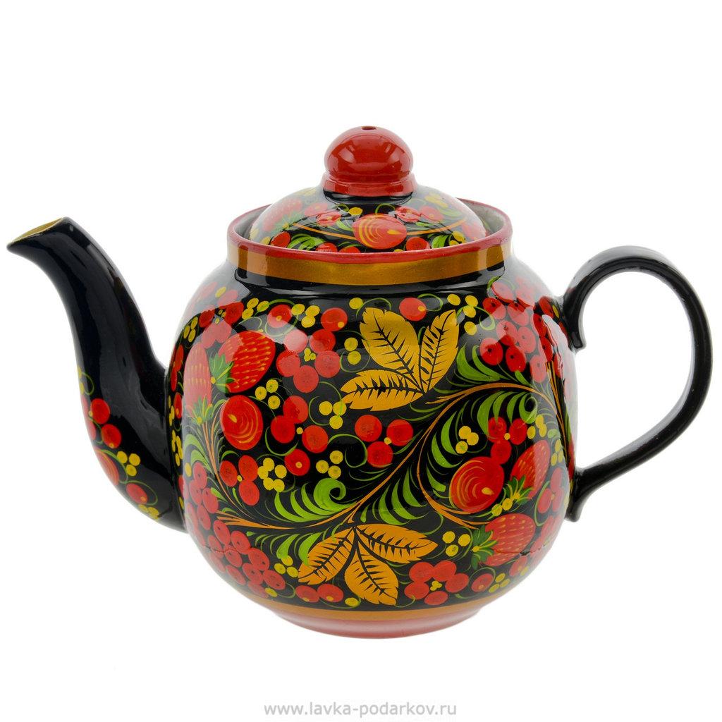 """Самовары: Чайник заварочный керамический """"Хохлома"""" в Сельский магазин"""