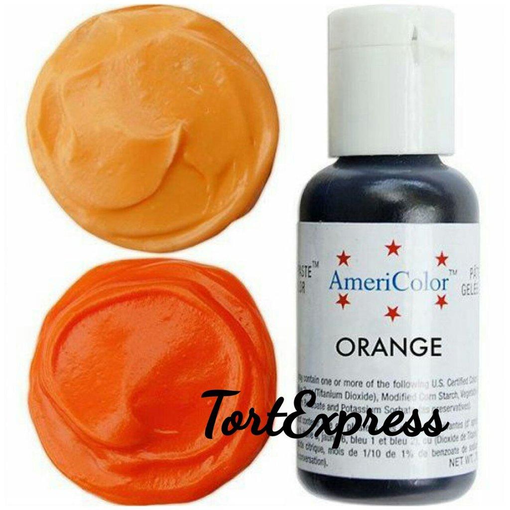 Гелевые: Гелевый краситель AmeriColor, оранжевый, флакон 21 гр в ТортExpress
