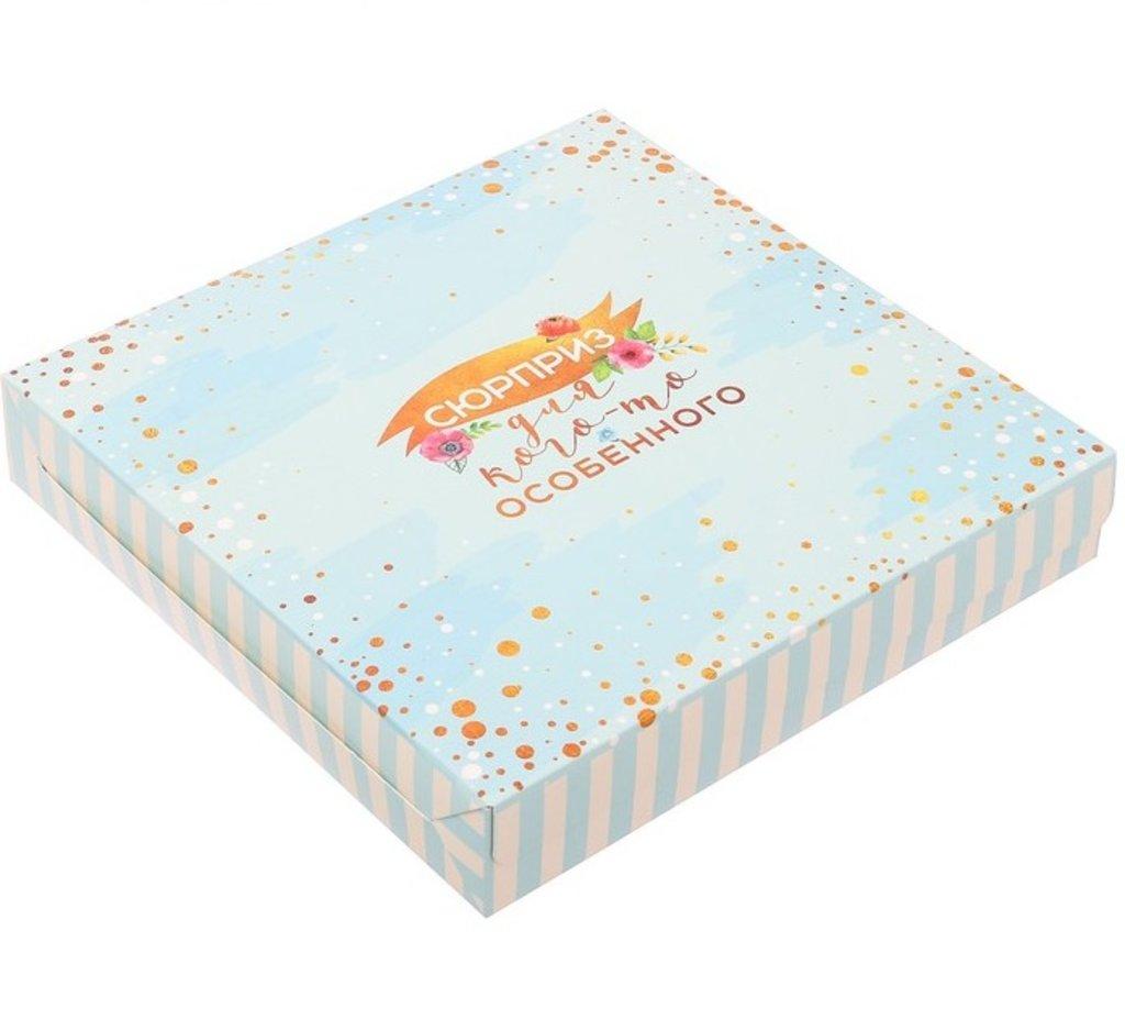 Коробки для кондитерских изделий: Коробка складная «Сюрприз для кого–то особенного», 14 × 14 × 3.5 см в ТортExpress