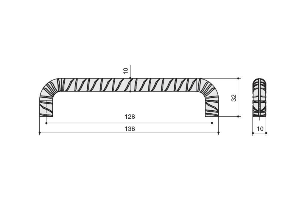 """Мебельная фурнитура """"НОВИНКИ"""": Ручка-скоба 128мм, отделка олово винтаж в МебельСтрой"""