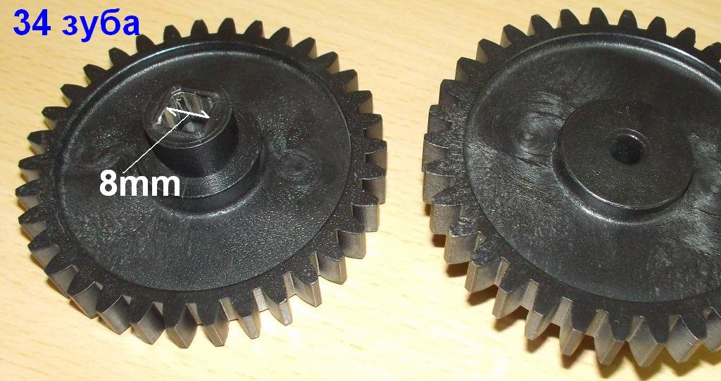 Запчасти для электромясорубок: Шестерня D=72/16; H=25/10; Z=34прям./квадрат=8мм (муфта под шнек с метал. втулкой), (RT004); SRT071, Ротор в АНС ПРОЕКТ, ООО, Сервисный центр