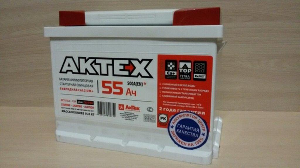 АКТЕХ: Аккумулятор AKTEX 6 СТ- 55 в БазаАКБ