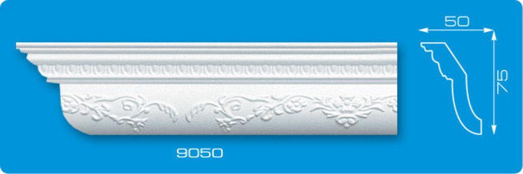 Плинтуса потолочные: Плинтус потолочный ФОРМАТ 9050 инжекционный длина 1,3м, средний в Мир Потолков